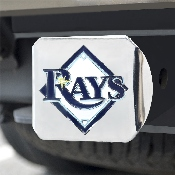 MLB - Tampa Bay Rays Color Hitch - Chrome 3.4