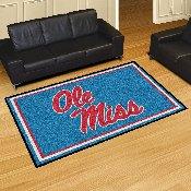 University of Mississippi (Ole Miss) 5x8 Rug 59.5