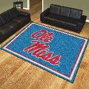 University of Mississippi (Ole Miss) 8x10 Rug 87