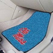 University of Mississippi (Ole Miss) 2-pc Carpet Car Mat Set 17