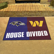 NFL House Divided - Ravens / Redskins House Divided Mat 33.75