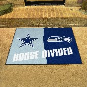 NFL House Divided - Cowboys / Seahawks House Divided Mat 33.75