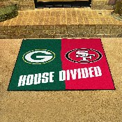 NFL House Divided - Packers / 49ers House Divided Mat 33.75