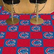 Chicago Cubs Team Carpet Tiles - 18