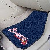 """Atlanta Braves 2-pc Carpet Car Mat Set - 17""""x27"""""""