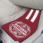 University of Alabama 2020-21 National Champions 2-pc Carpet Car Mat Set 17