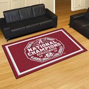 University of Alabama 2020-21 National Champions 5x8 Rug 59.5
