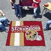San Francisco 49ers Dynasty Tailgater Mat 59.5