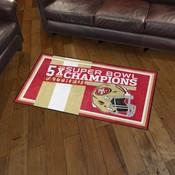 San Francisco 49ers Dynasty Rug