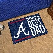 Atlanta Braves Starter Mat - World's Best Dad - 19