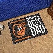 Baltimore Orioles Starter Mat - World's Best Dad - 19