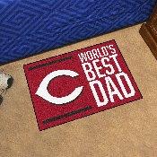 Cincinnati Reds Starter Mat - World's Best Dad - 19