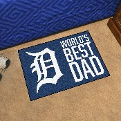 Detroit Tigers Starter Mat - World's Best Dad - 19