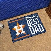 Houston Astros Starter Mat - World's Best Dad - 19