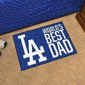 Los Angeles Dodgers Starter Mat - World's Best Dad - 19