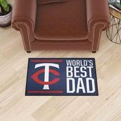 Minnesota Twins Starter Mat - World's Best Dad - 19