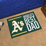 Oakland Athletics Starter Mat - World's Best Dad - 19