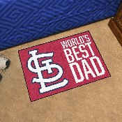 St. Louis Cardinals Starter Mat - World's Best Dad - 19