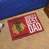 Chicago Blackhawks Starter Mat - World's Best Dad - 19