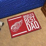 Detroit Red Wings Starter Mat - World's Best Dad - 19