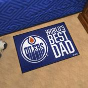 Edmonton Oilers Starter Mat - World's Best Dad - 19