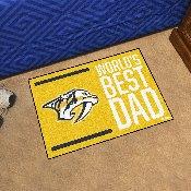 Nashville Predators Starter Mat - World's Best Dad - 19