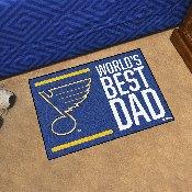 St. Louis Blues Starter Mat - World's Best Dad - 19