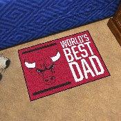 Chicago Bulls Starter Mat - World's Best Dad - 19