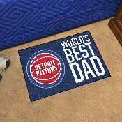 Detroit Pistons Starter Mat - World's Best Dad - 19