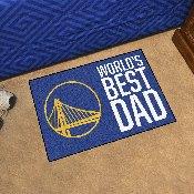 Golden State Warriors Starter Mat - World's Best Dad - 19