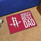 Houston Rockets Starter Mat - World's Best Dad - 19