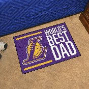 Los Angeles Lakers Starter Mat - World's Best Dad - 19