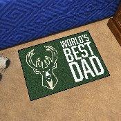 Milwaukee Bucks Starter Mat - World's Best Dad - 19