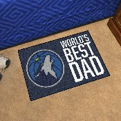 Minnesota Timberwolves Starter Mat - World's Best Dad - 19