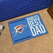 Oklahoma City Thunder Starter Mat - World's Best Dad - 19