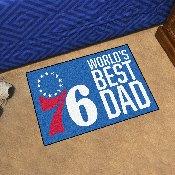 Philadelphia 76ers Starter Mat - World's Best Dad - 19