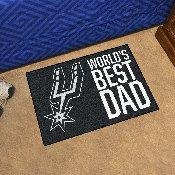 San Antonio Spurs Starter Mat - World's Best Dad - 19