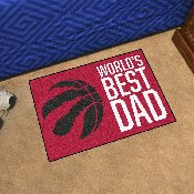 Toronto Raptors Starter Mat - World's Best Dad - 19