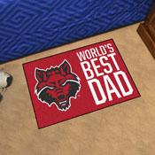 Arkansas State Starter Mat - World's Best Dad - 19