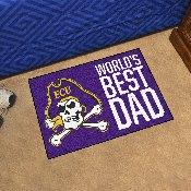 East Carolina Starter Mat - World's Best Dad - 19