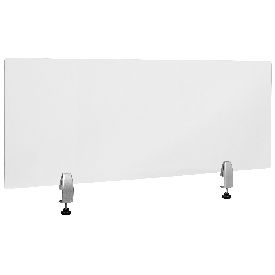 """Clear Acrylic Desk Partition, 18""""H x 47""""L (Hardware Included)"""