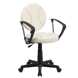 Baseball Swivel Task Office Chair with Arms