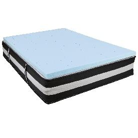 Capri Comfortable Sleep Full 12 Inch CertiPUR-US Certified Foam Pocket Spring Mattress & 3 inch Gel Memory Foam Topper Bundle
