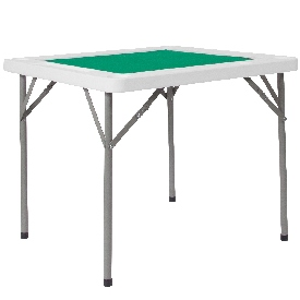 """34.5"""" Square 4-Player Folding Card Game Table with Green Playing Surface and Cup Holders"""