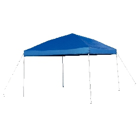 10'x10' Blue Outdoor Pop Up Event Slanted Leg Canopy Tent with Carry Bag
