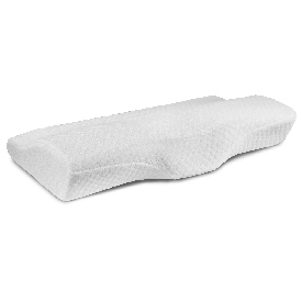 Capri Comfortable Sleep Contour Memory Foam Gel Cervical Neck Pillow - For Stomach and Side Sleepers