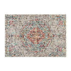 Distressed Medallion Area Rug - 5' x 7' - Gray Multi Polyester