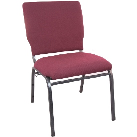 Advantage Maroon Multipurpose Church Chairs - 18.5 in. Wide