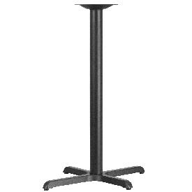 23.5'' x 29.5'' Restaurant Table X-Base with 3'' Dia. Bar Height Column