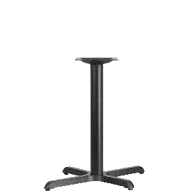 23.5'' x 29.5'' Restaurant Table X-Base with 3'' Dia. Table Height Column